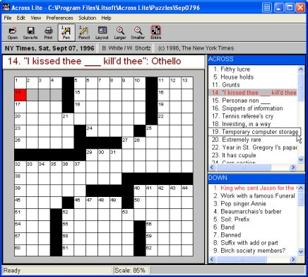 Across Lite Free Crossword Puzzle Software