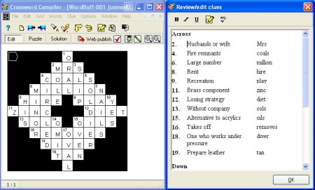 Crossword Compiler Software Screenshot