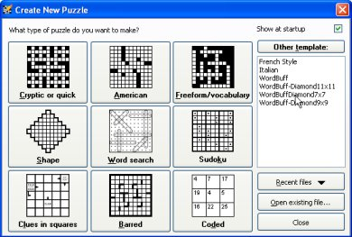 Make a crossword puzzle generator
