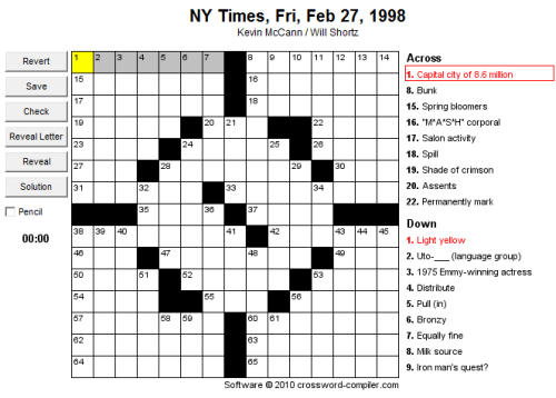 Crossword Puzzle Making Resources