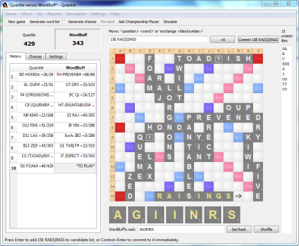 Free Scrabble Game Screenshot