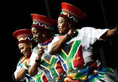 Dancers under the mbaqanga music.