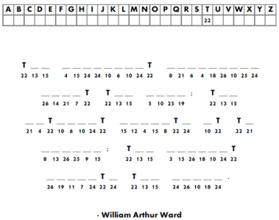 Word Puzzle Example - Cryptogram