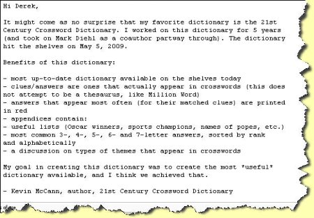 21st Crossword Puzzle Dictionary Features