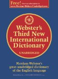Websters 3rd New International Dictionary