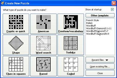 Crossword Puzzle Formats