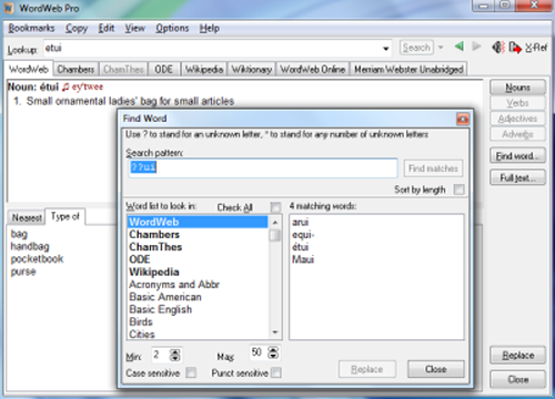 Crossword Puzzle Solver - WordWeb Pro