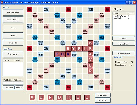 Email Scrabble Online
