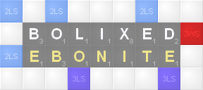 Not To Mention All Those Extra Points Youll Get For Each Word Formed In The Overlap Heres A Great Example From A Real Scrabble Tournament